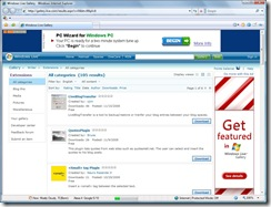 WriterLive in Internet Explorer 7 - nicee!