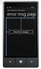 Add a button to your MainPage.xaml in new Windows Phone 7 application