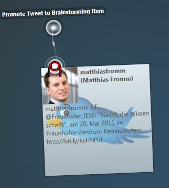 Breiny - the Twitter Item and its contextual menu